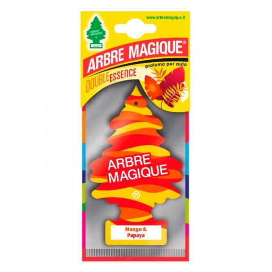 Arbre Magique Double Essence Profumatore Solido per Auto Fragranza Mango e Papaya Lunga Durata