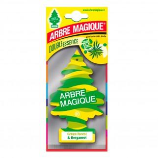 Arbre Magique Double Essence Profumatore Solido per Auto Fragranza Green Forest & Bergamot Lunga Durata