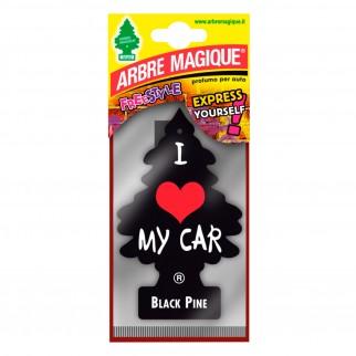 Arbre Magique Freestyle Profumatore Solido per Auto Fragranza Black Pine Lunga Durata