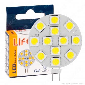 Life Lampadina LED G4 1,8W 12V Bulb Disc - mod. 39.930124C / 39.930124F