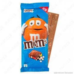 M&M's Crispy Tavoletta di Cioccolato al Latte con Confetti al Riso Soffiato - Confezione da 165g