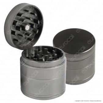 Grinder Tritatabacco 4 Parti in Metallo Grigio