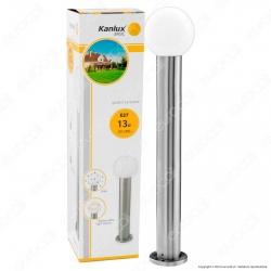 Kanlux ASPA 80 Portalampada da Giardino con Fissaggio a Terra per Lampadine E27 - mod.23603