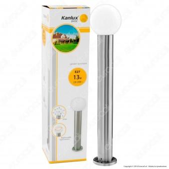 Kanlux ASPA 80 Portalampada da Giardino con Fissaggio a Terra per Lampadine E27