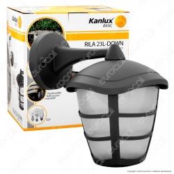 Kanlux RILA 23L-DOWN Portalampada da Giardino Wall Light da Muro per Lampadine E27 - mod.23581