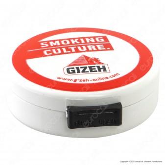 Gizeh Posacenere Tascabile in Plastica di Colore Bianco e Rosso
