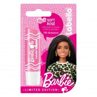 Labello Soft Rosé Barbie Limited Edition Balsamo Idratante Labbra Burrocacao con Estratto di Rosa - Confezione da 1pz