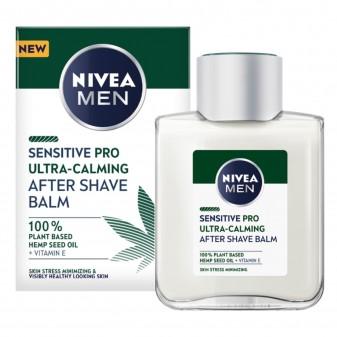 Nivea Men Sensitive Pro Ultra Calming Balsamo Dopobarba Vegano con Vitamina E e Olio di Canapa - Flacone da 100ml
