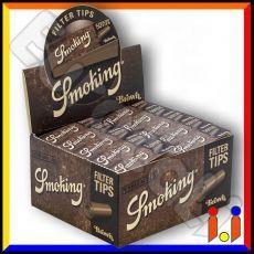 Smoking Brown Filtri In Carta Non Sbiancata - Scatola da 50 Blocchetti