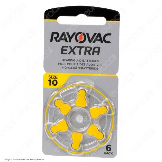 Rayovac Extra Misura 10 - Blister 6 Batterie per Protesi Acustiche