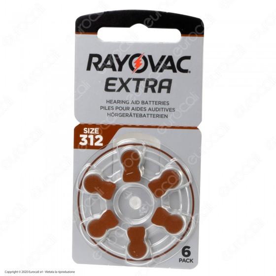 Rayovac Extra Misura 312 - Blister 6 Batterie per Protesi Acustiche