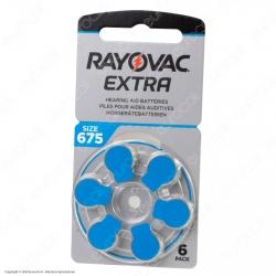 Rayovac Extra Misura 675 - Blister 6 Batterie per Protesi Acustiche