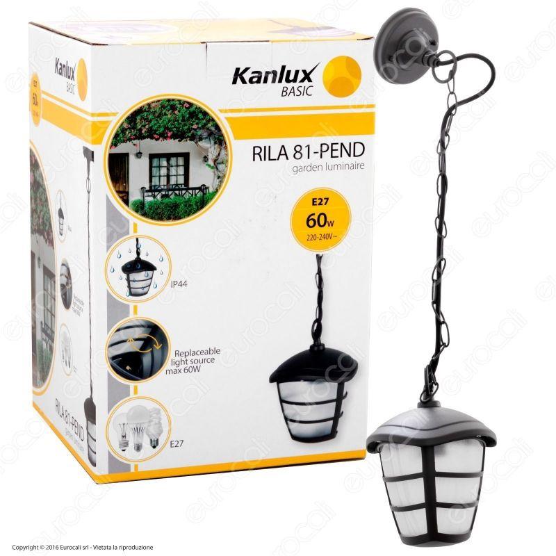 Portalampada da giardino con attacco a soffitto per e27 kanlux for Portalampada led