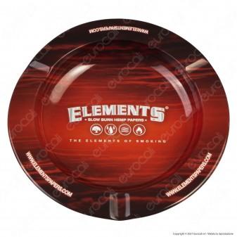 Elements Posacenere da Tavolo Rotondo in Latta Rosso