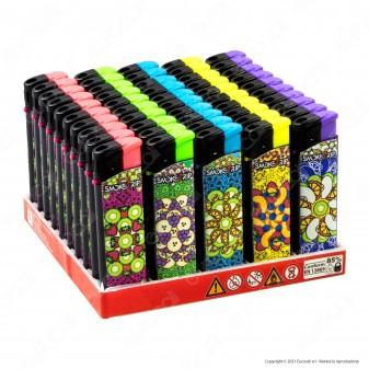 SmokeTrip Accendini Elettronici Ricaricabili Fantasia Fruit Mandala - Box da 50 Accendini