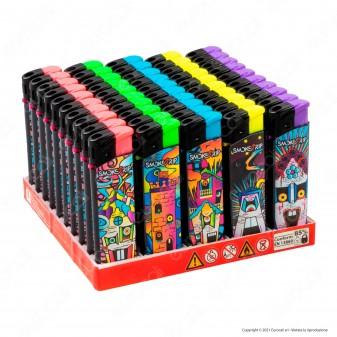 SmokeTrip Accendini Elettronici Ricaricabili Fantasia Psyco House - Box da 50 Accendini
