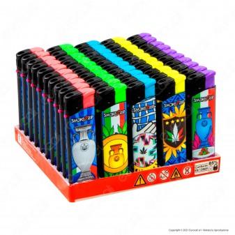 SmokeTrip Accendini Elettronici Ricaricabili Fantasia Champions - Box da 50 Accendini
