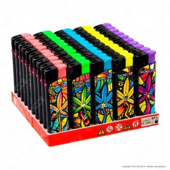 SmokeTrip Accendini Elettronici Ricaricabili Fantasia Trip Leaves - Box da 50 Accendini