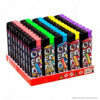 SmokeTrip Accendini Elettronici Ricaricabili Fantasia Cocktail Overdose - Box da 50 Accendini