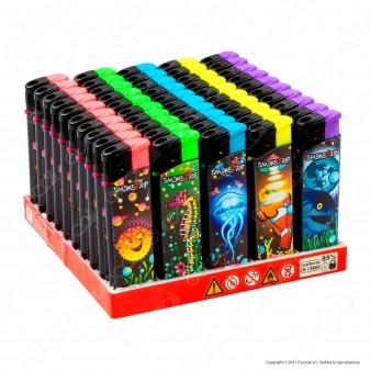 SmokeTrip Accendini Elettronici Ricaricabili Fantasia Fish Invasion - Box da 50 Accendini
