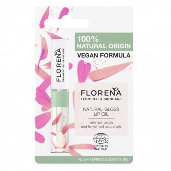 Florena Fermented Skincare Olio Labbra Volumizzante Effetto Gloss Formula Vegan con Petali di Elicriso - Flacone da 5ml