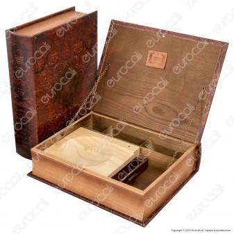 Spliff Box Stazione di Rollaggio in Legno - Large Libro Antico