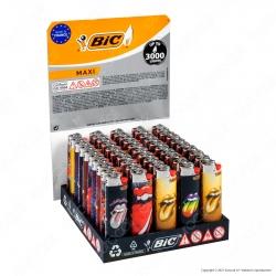 Bic Maxi J26 Grande Fantasia Rolling Stones - Box da 50 Accendini