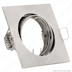 V-Tac VT-779SQ Portafaretto Orientabile Quadrato da Incasso per Lampadine GU10 e GU5.3 - SKU 3591