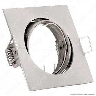 V-Tac VT-779SQ Portafaretto Orientabile Quadrato da Incasso per Lampadine GU10 e GU5.3 SKU - 3592