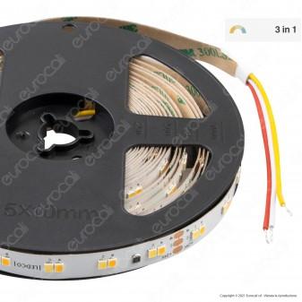 LEDCO Striscia LED Monocolore Changing Color 3in1 Bianco Dinamico 24V 120 LED/metro CRI≥95 - Bobina da 5 metri - mod. SL120BD20