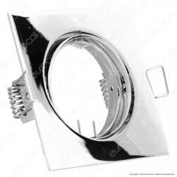 V-Tac VT-779SQ Portafaretto Orientabile Quadrato da Incasso per Lampadine GU10 e GU5.3 - SKU 3592