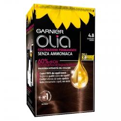 Garnier Olia Tinta Permanente per Capelli 4.8 Castano Moka Senza Ammoniaca