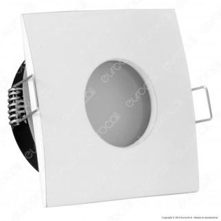 V-Tac VT-787SQ Portafaretto Quadrato da Incasso IP44 per Lampadine GU10 e GU5.3 - SKU 3615