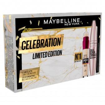 Maybelline New York Celebration Limited Edition Pochette + Mascara + Correttore Multiuso Coffret Iar Light