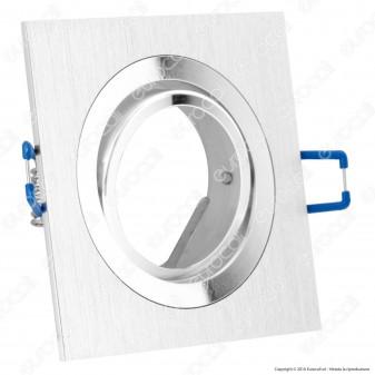 V-Tac VT-782SQ Portafaretto Orientabile Quadrato o da Incasso per Lampadine GU10 e GU5.3 - SKU 3606