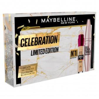 Maybelline New York Celebration Limited Edition Pochette + Mascara + Correttore Multiuso Coffret Iar Nude