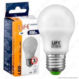 Life Serie GH Lampadina LED E27 6W Bulb A50