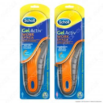 Scholl Solette Gel Activ Work Uomo / Donna - Confezione con 1 paio di solette