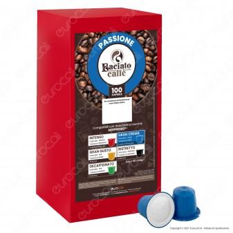 Baciato Caffè Linea Passione Gran Crema Cialde Compatibili Nespresso - Confezione da 100 Capsule