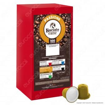 Baciato Caffè Linea Passione Gran Gusto Cialde Compatibili Nespresso - Confezione da 100 Capsule