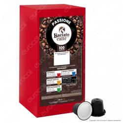 Baciato Caffè Linea Passione Ristretto Cialde Compatibili Nespresso - Confezione da 100 Capsule