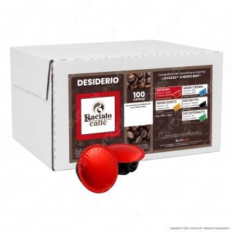 Baciato Caffè Linea Desiderio Intenso Cialde Compatibili Lavazza A Modo Mio - Confezione da 100 Capsule