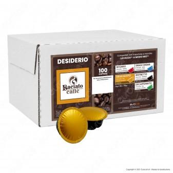 Baciato Caffè Linea Desiderio Gran Gusto Cialde Compatibili Lavazza A Modo Mio - Confezione da 100 Capsule