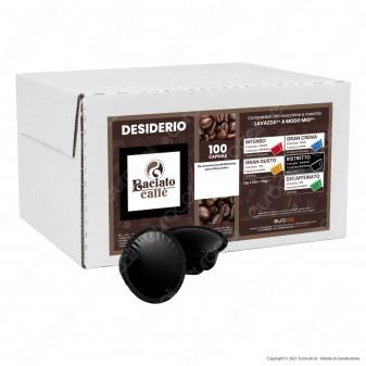 Baciato Caffè Linea Desiderio Ristretto Cialde Compatibili Lavazza A Modo Mio - Confezione da 100 Capsule