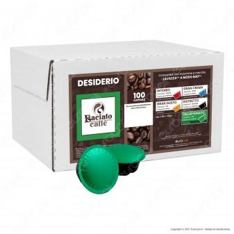 Baciato Caffè Linea Desiderio Decaffeinato Cialde Compatibili Lavazza A Modo Mio - Confezione da 100 Capsule