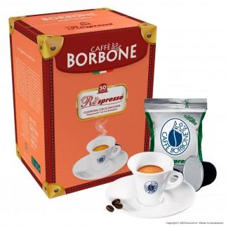 50 Capsule Caffè Borbone Respresso Decaffeinato - Cialde Compatibili Nespresso