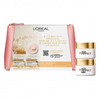 L'Oréal Paris Pochette Age Perfect Collagen Expert Trattamento Rimagliante Anti-Rilassamento Giorno e Notte per Pelli Mature