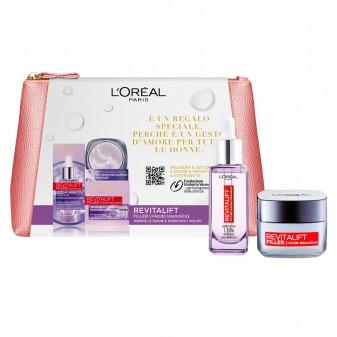 L'Oréal Paris Pochette Revitalift Filler Siero Anti-Rughe con Acido Ialuronico Puro e Crema Viso Giorno Rivolumizzante