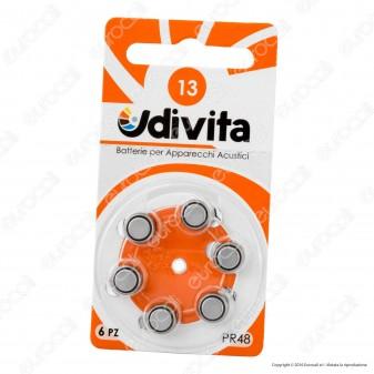Udivita Misura 13 - Blister 6 Batterie per Protesi Acustiche