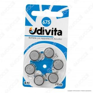 Udivita Misura 675 - Blister 6 Batterie per Protesi Acustiche